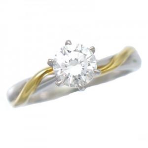 リング t900 K18 ダイヤモンド 0.710ct 10号